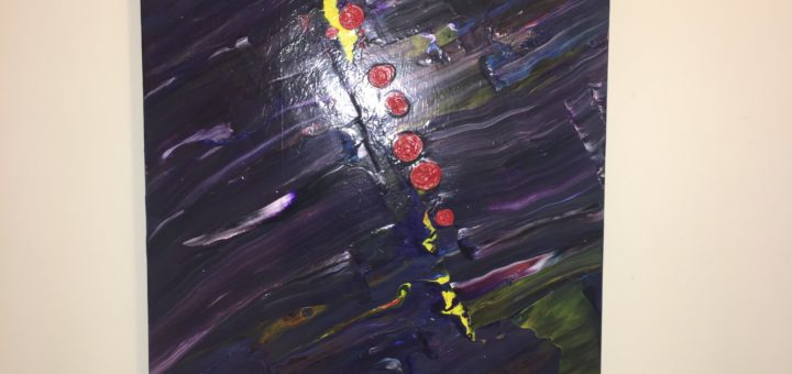 Pouring acrylic artwork